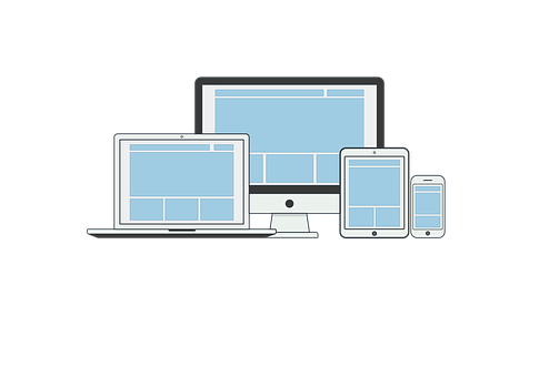 Responsive, Illustration, Page, Seo