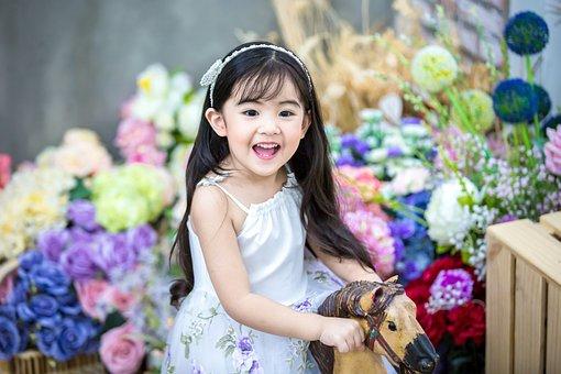 Kids, Baby, Cute, The Princess, Flowers