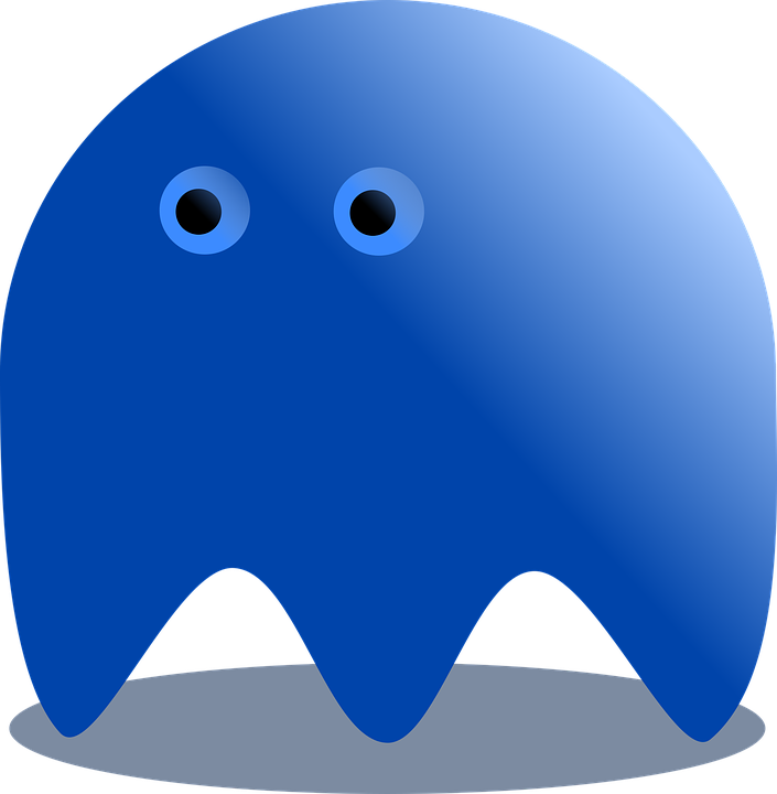 blue ghost pacman free image on pixabay