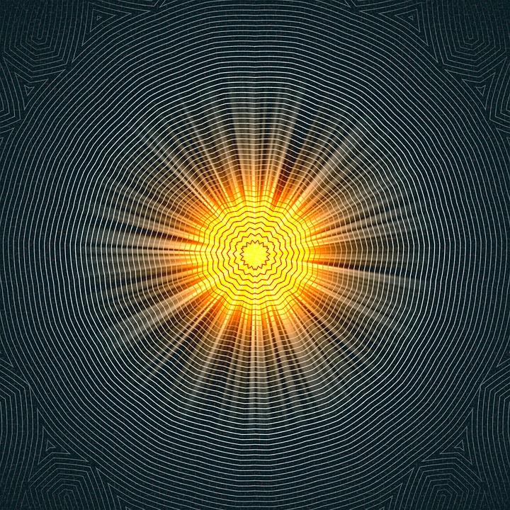 Achtergrond, Mandala, Sun, Stralen, Patroon