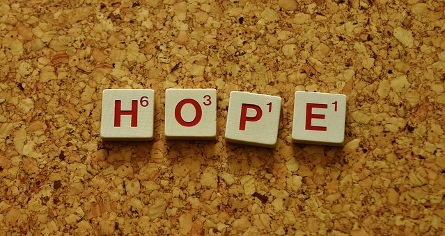 Hope, Word, Letters, Don'T Give Up Hope