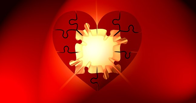 Puzzle, Heart, Light, Luck, Puzzles