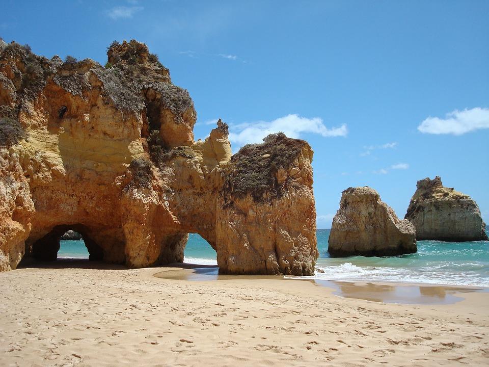 Portugal, Algarve, Mer, Roches, Côte, Plage - Twelve Magazine