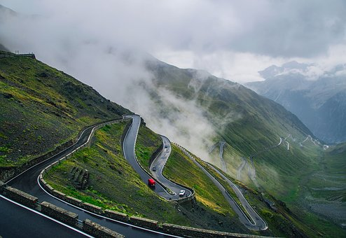 Italy, Road, Highway, Twisting, Winding
