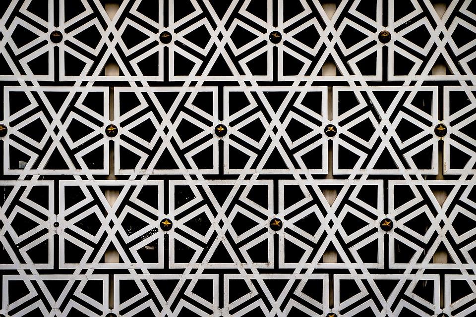 Арабески, Шаблон, Исламская, Геометрический, Линия