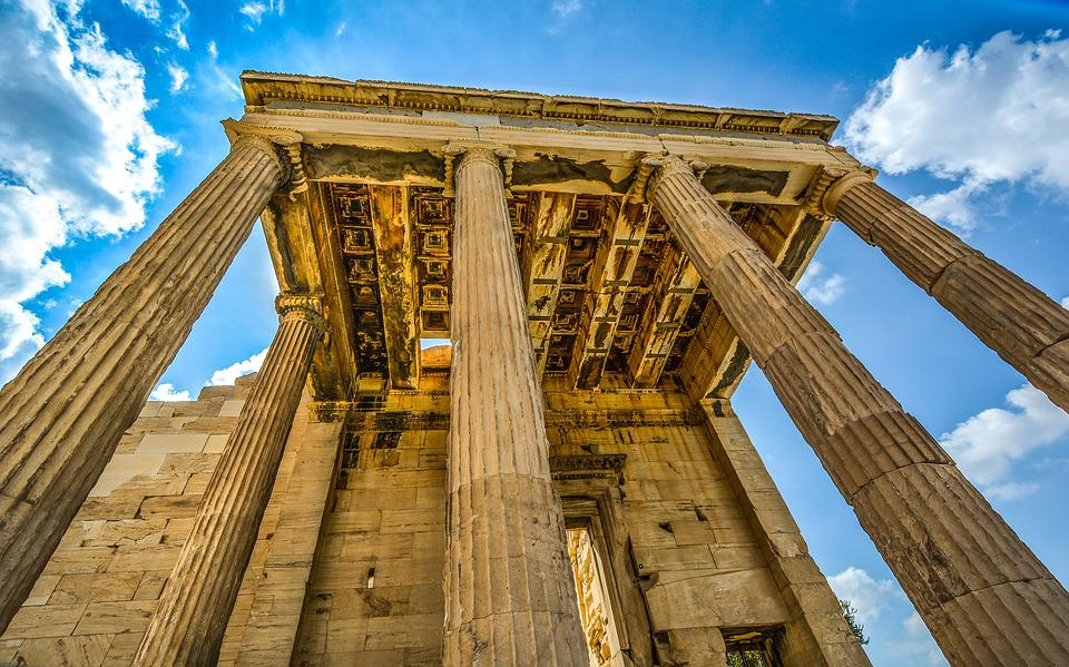 Acropolis Parthenon Ancient Columns Greece Athens