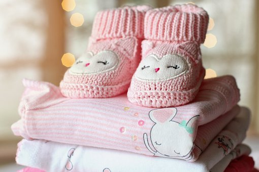 Booties, Baby, Girl, Clothes, Pink, Tiny