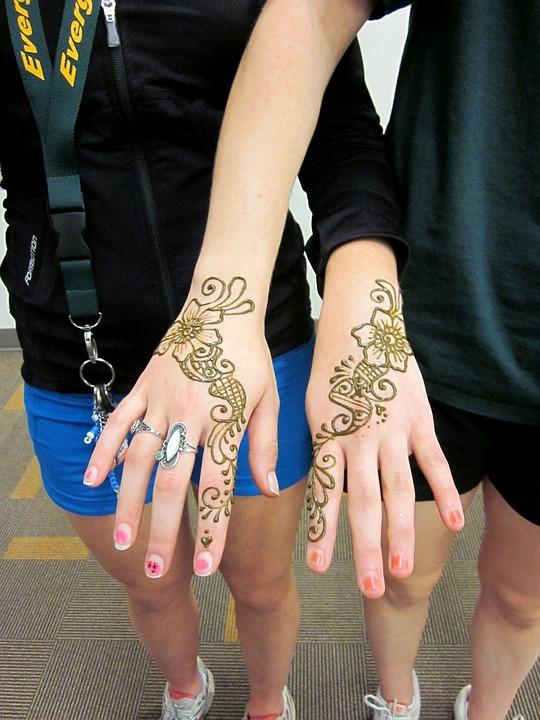 Henna Mehndi Tangan Foto Gratis Di Pixabay