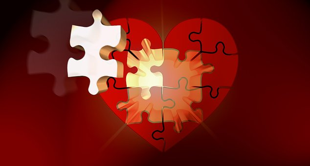 Puzzle Heart Light Luck Puzzles Relationsh