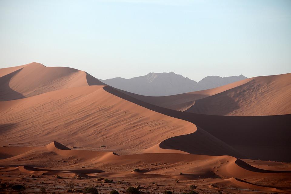 Namibie, Désert, Sable, Dune, Poussière, La Sécheresse