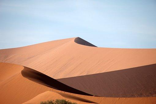 Namibie, Désert, Sable, Dune, Poussière