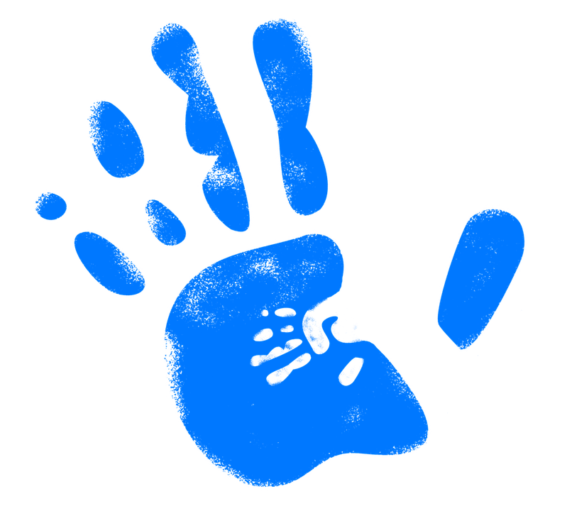 Hand, Reprint, Handprint, In, Finger, Color, Colorful