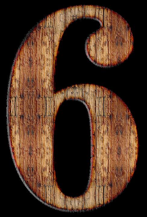 Nmero 6 Seis Imagen Gratis En Pixabay