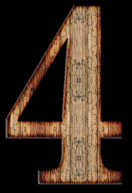 Number 4 Four · Free Image On Pixabay