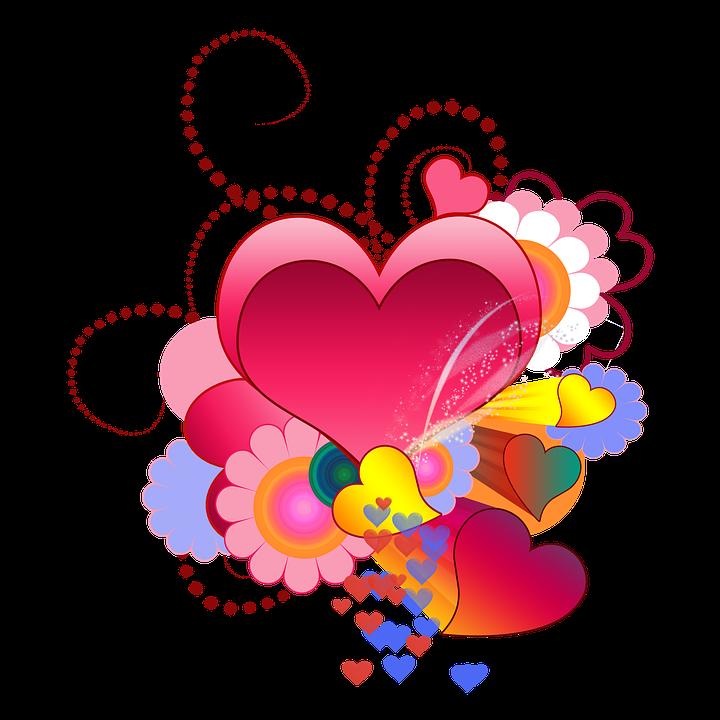 Herzen Rot Liebe Valentinstag Verliebt Glück