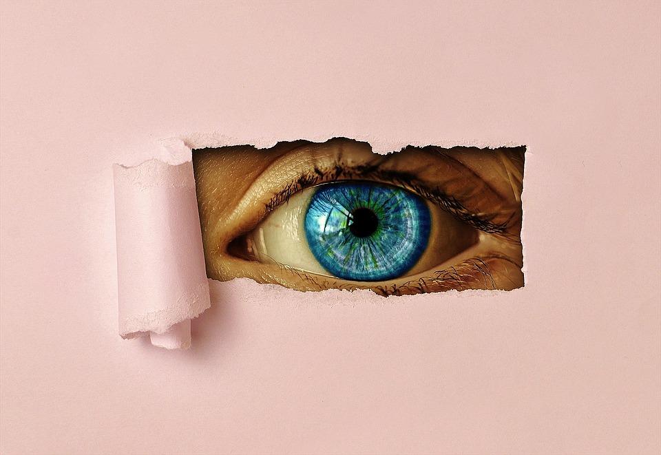 Œil, Watch, Papier, Voir, Iris, Vue, Vigilant, Trou