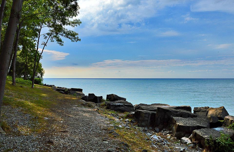 canada paesaggio lago ontario natura banca