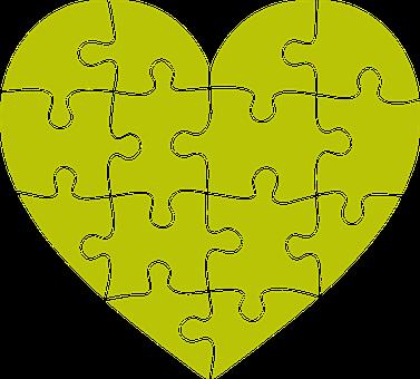 Heart, Puzzle, Portrait, Emotion