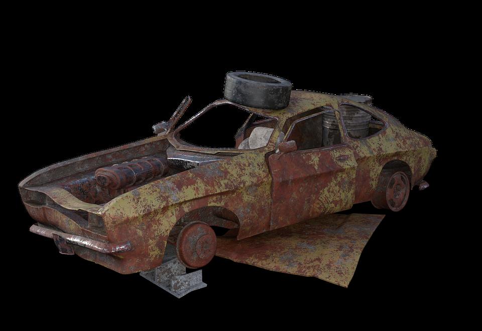 Free illustration: Scrap Car, Wreck, Pkw, Vehicle - Free Image on ...