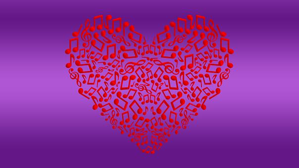 Background Art Texture Heart Music Mu