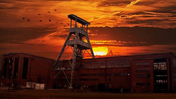 Herten, Zeche Ewald, Sunset