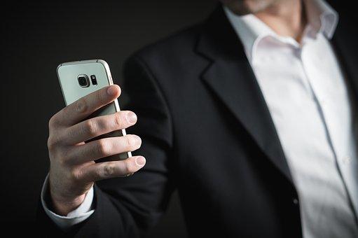 Iş, Adam, Smartphone, Telefon