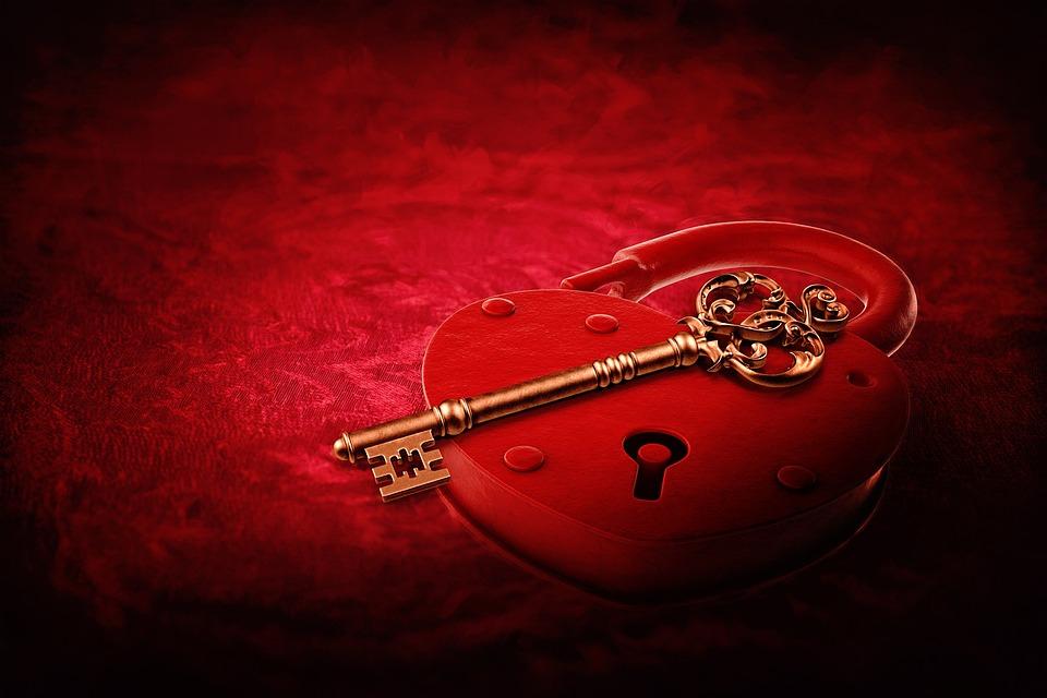 Sydän Lukko, Avain, Ystävänpäivä, Mielitietty, Punainen