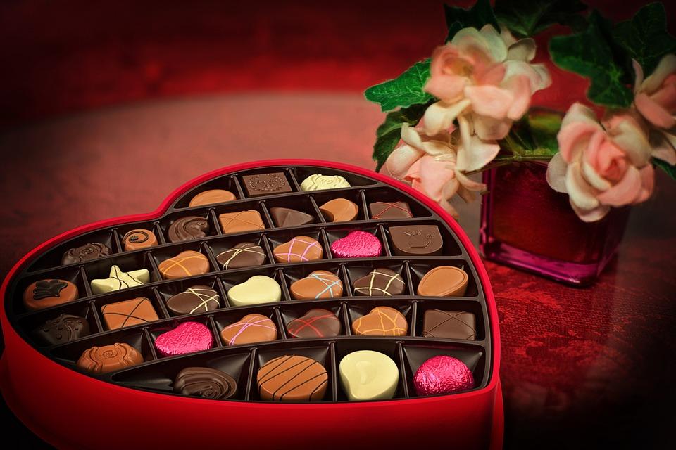 Kostenloses Foto: Valentinstag, Pralinen, Süßigkeiten ...