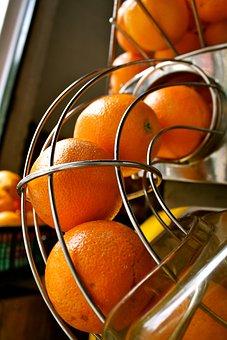 Oranges, Juice, Machine, Market, Stall