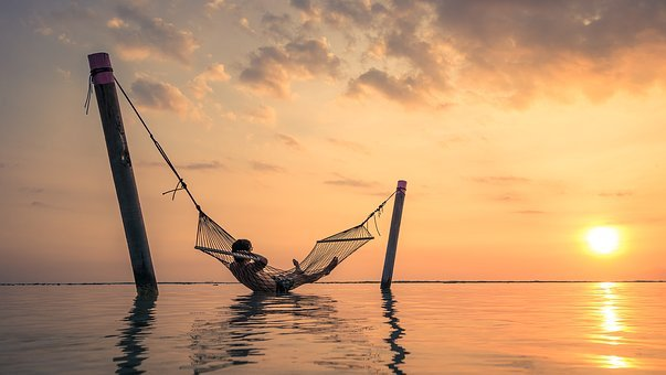 Sunset, Hammock, Relaxation, Bali, Asia