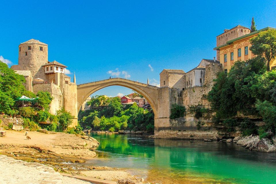 Brücke, Stadt, Fluss