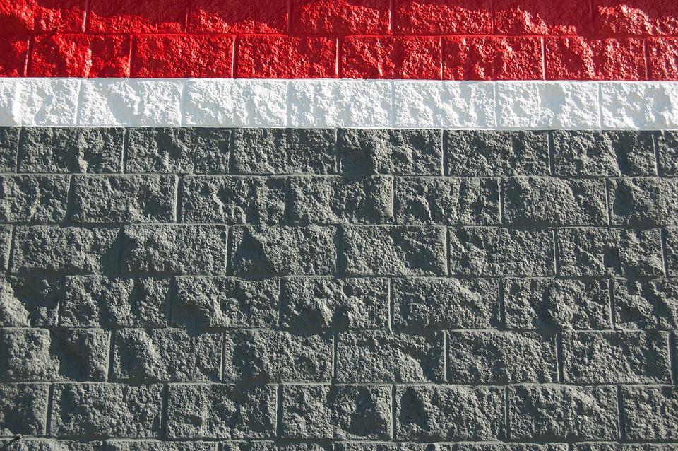 Foto gratis pared de bloques pintados textura imagen - Cabeceras pintadas en la pared ...