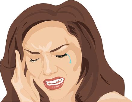 Headache, Woman, Sad, Cry, Unhappy