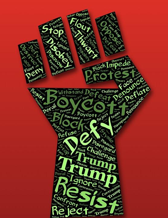 Defiance, Poing, Résister À, Boycotter, Trump