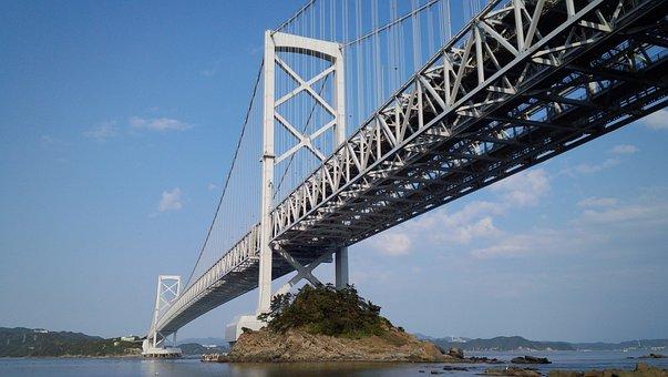 瀬戸内海, 瀬戸大橋, 見上げる