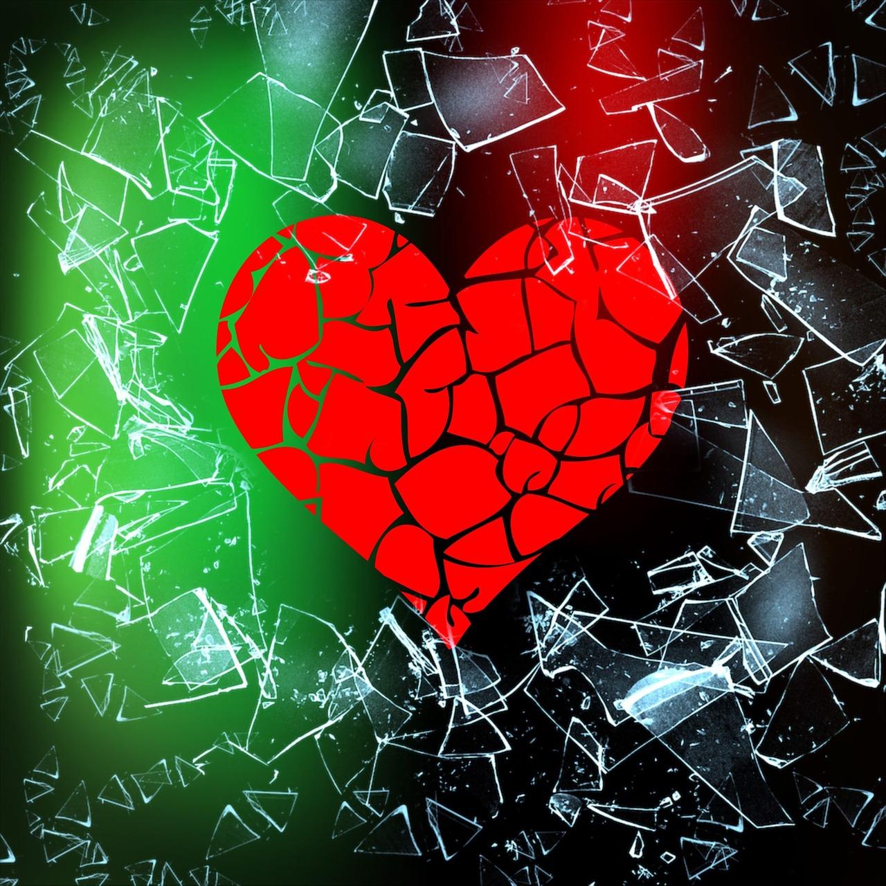 название расположениию картинка сердца сломался нем