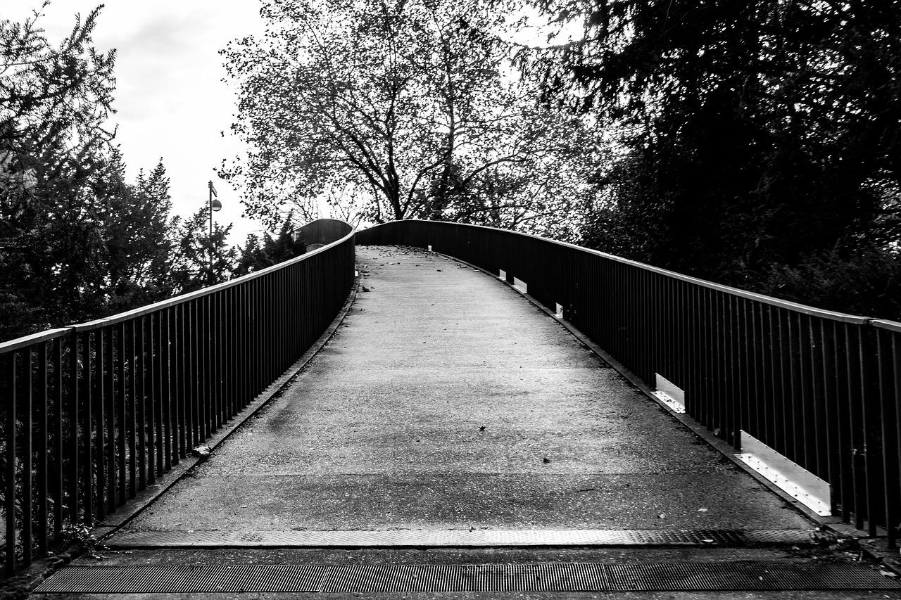 черно-белые картинки фото мост моментально преображает проблемные