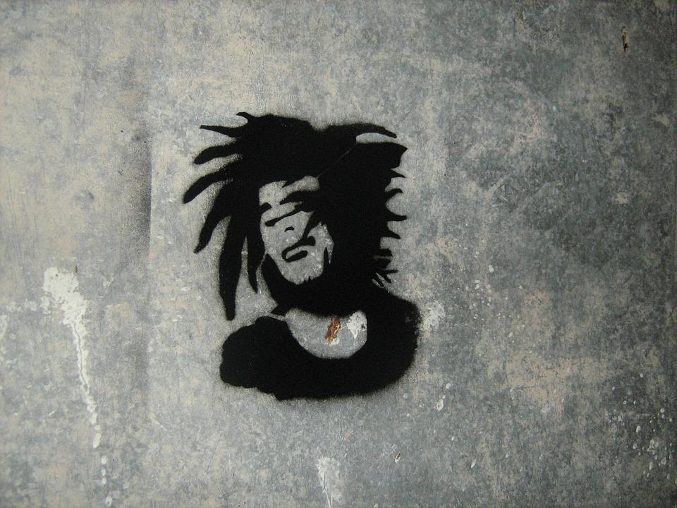 Bob Marley Stensil Cat Gambar Gratis Di Pixabay