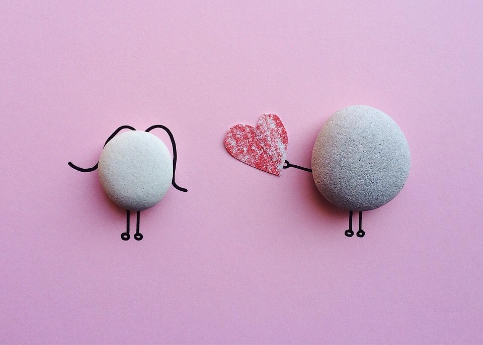 Valentine S Day Rock Art Free Photo On Pixabay
