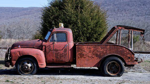 Wrecker, Tow Truck, Antique, Old, Truck