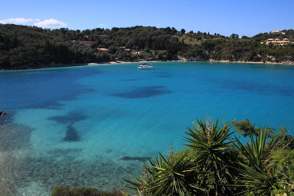 Greece, Paxos, Laaka, Ionian, Greek Islands, Summer