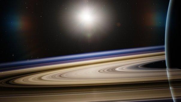 Astronomia, Saturno, Satellite, Pianeta