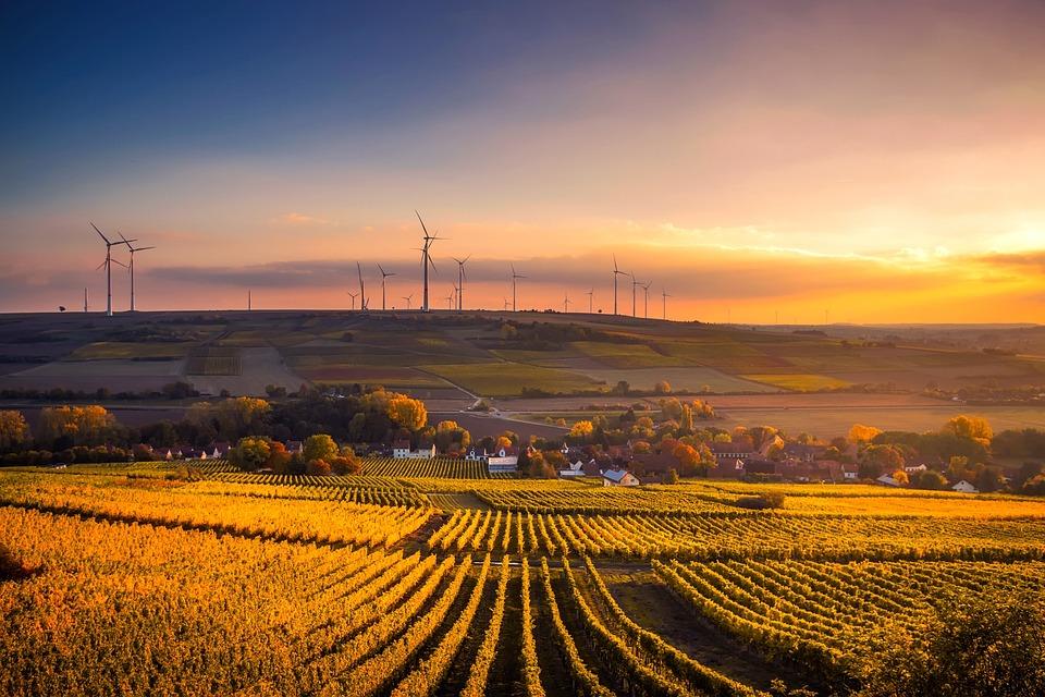 Deutschland, Sonnenuntergang, Abenddämmerung, Himmel