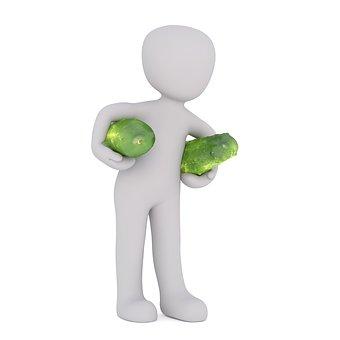 Purchasing, Food, Cucumber, Raw Food