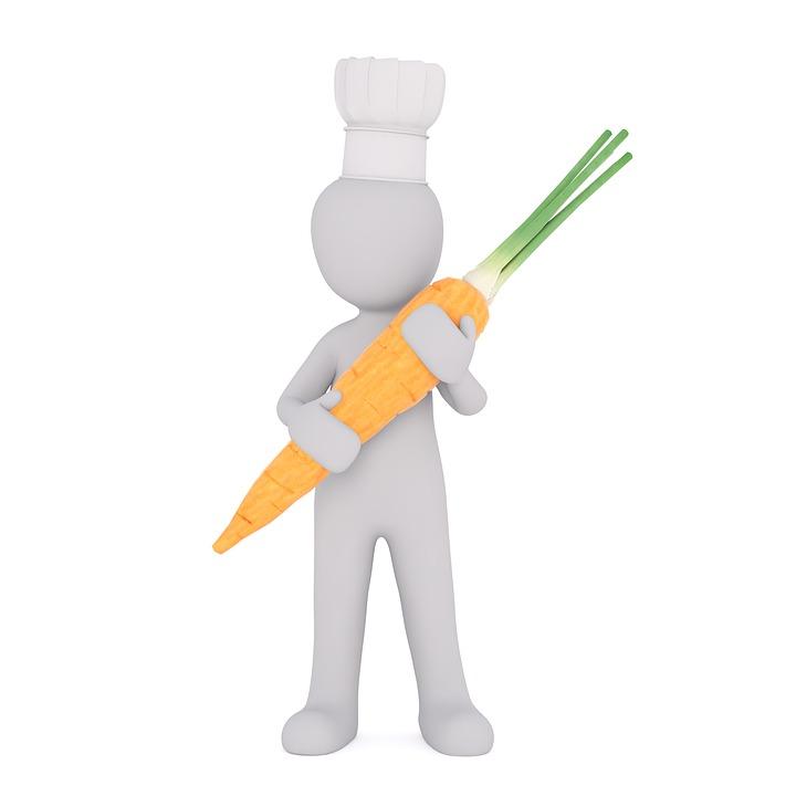 Gemüse, Gesund, Vitamin, Vegan, Möhre, Weiße Männchen