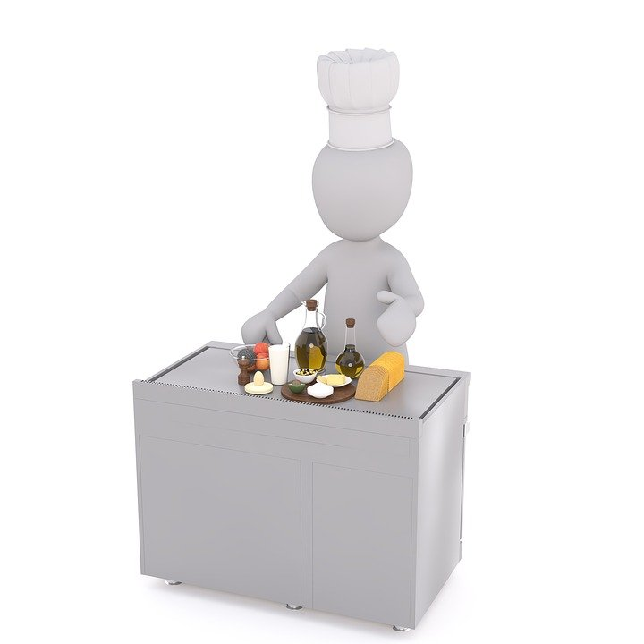 Free Illustration Cooking Cook White Male 3d Model