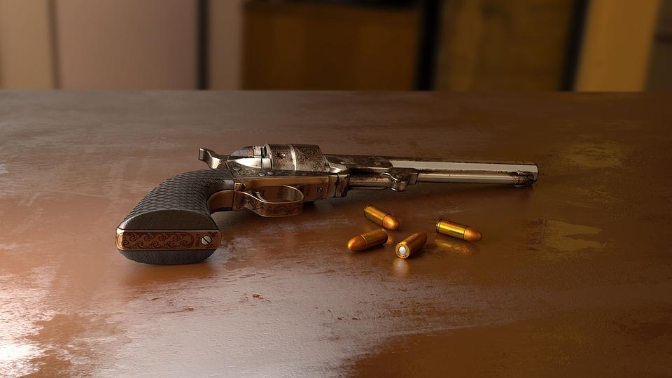 Pistola, Bala, Disparar, Arma, 3D