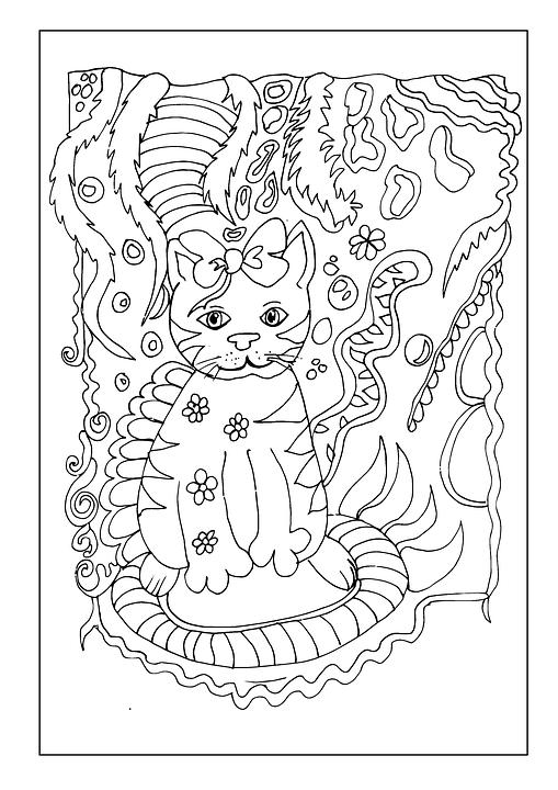 free illustration ice cream cat drawing fine art
