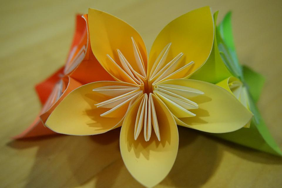Origami flower paper folding free photo on pixabay origami flower paper folding modules mightylinksfo