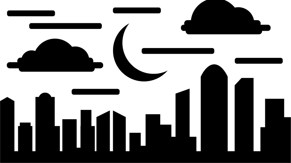 Building City Night Free Vector Graphic On Pixabay